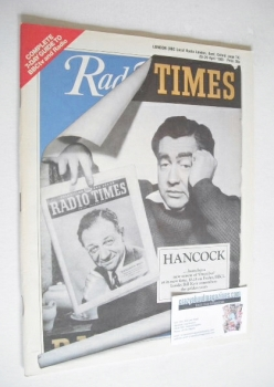 Radio Times magazine - Tony Hancock cover (20-26 April 1985)
