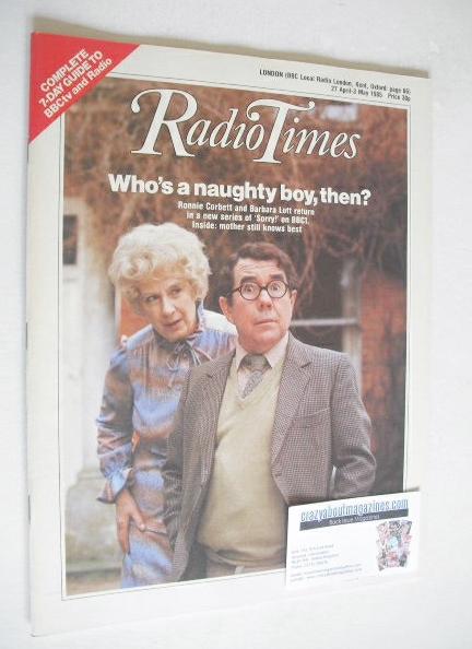 <!--1985-04-27-->Radio Times magazine - Barbara Lott and Ronnie Corbett cov