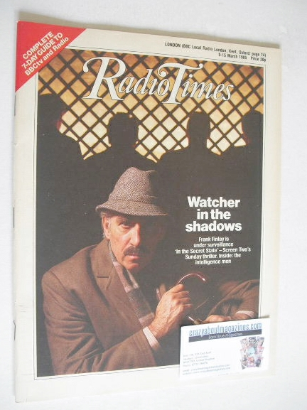 <!--1985-03-09-->Radio Times magazine - Frank Finlay cover (9-15 March 1985