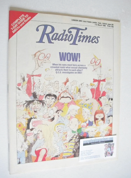 <!--1985-03-02-->Radio Times magazine - Wow cover (2-8 March 1985)