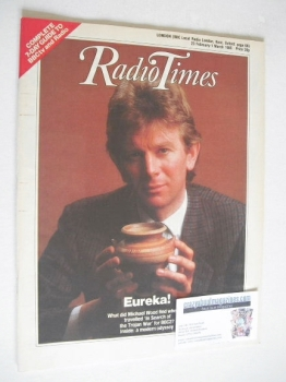 Radio Times magazine - Michael Wood cover (23 February - 1 March 1985)