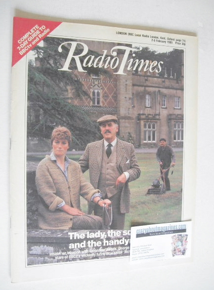 <!--1985-02-02-->Radio Times magazine - Geraldine James and George Cole cov