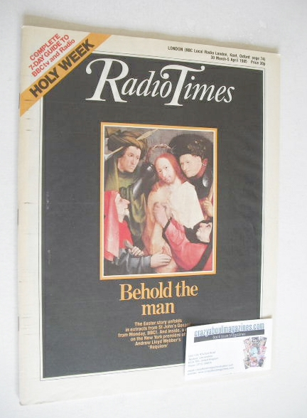 <!--1985-03-30-->Radio Times magazine - Behold The Man cover (30 March - 5