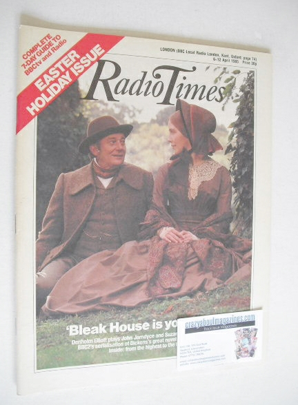 <!--1985-04-06-->Radio Times magazine - Denholm Elliott and Suzanne Burden