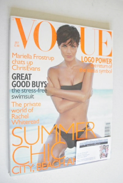 <!--1997-07-->British Vogue magazine - July 1997 - Helena Christensen cover