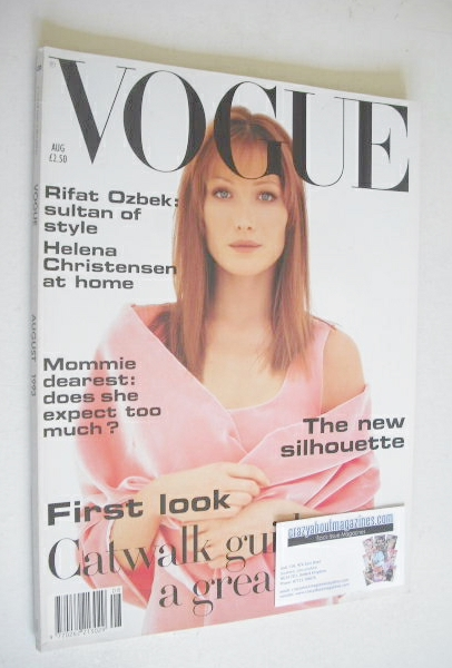 <!--1993-08-->British Vogue magazine - August 1993 - Carla Bruni cover