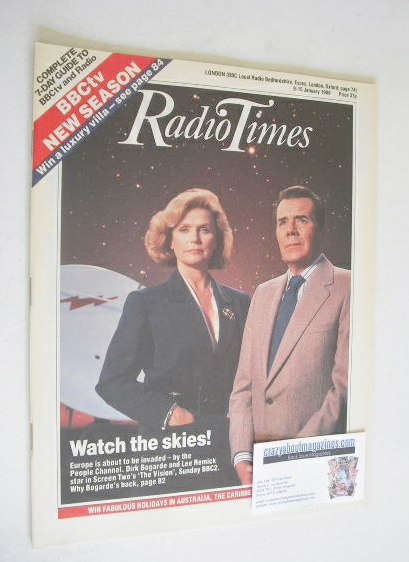 <!--1988-01-09-->Radio Times magazine - Dirk Bogarde and Lee Remick cover (