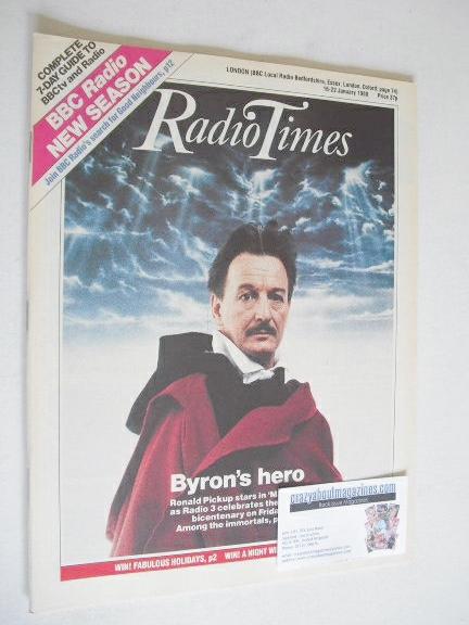<!--1988-01-16-->Radio Times magazine - Ronald Pickup cover (16-22 January