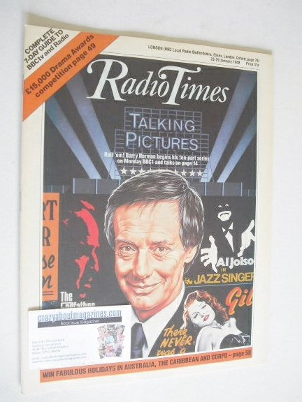 <!--1988-01-23-->Radio Times magazine - Barry Norman cover (23-29 January 1