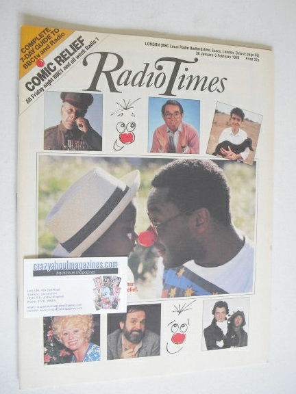 <!--1988-01-30-->Radio Times magazine - Comic Relief cover (30 January - 5