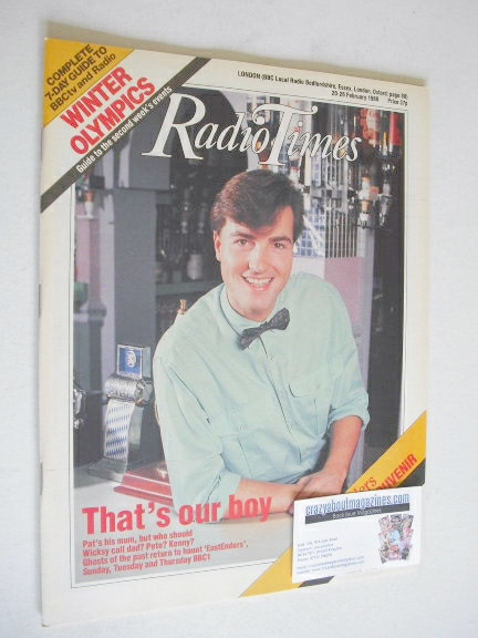 <!--1988-02-20-->Radio Times magazine - Nick Berry cover (20-26 February 19