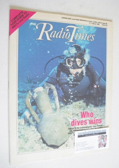 <!--1988-03-05-->Radio Times magazine - Who Dives Wins cover (5-11 March 19
