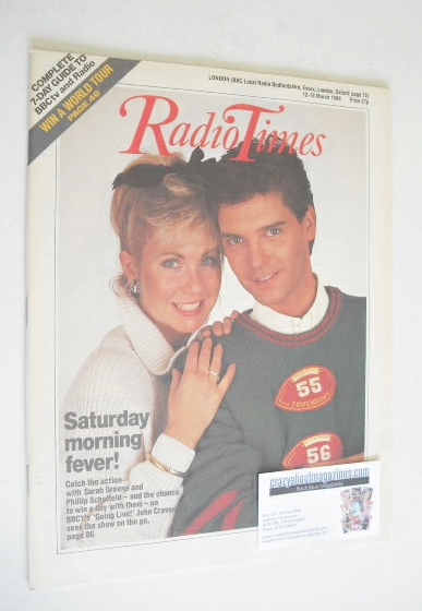 <!--1988-03-12-->Radio Times magazine - Sarah Greene and Phillip Schofield