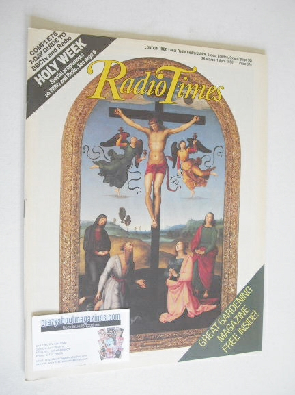 <!--1988-03-26-->Radio Times magazine - Holy Week cover (26 March - 1 April