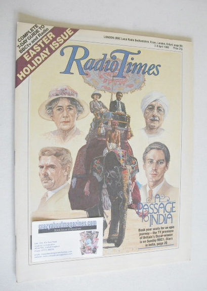 <!--1988-04-02-->Radio Times magazine - A Passage To India cover (2-8 April
