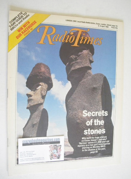 <!--1988-04-09-->Radio Times magazine - Secrets Of The Stones cover (9-15 A