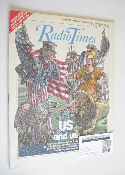 <!--1988-04-16-->Radio Times magazine - US And Us cover (16-22 April 1988)