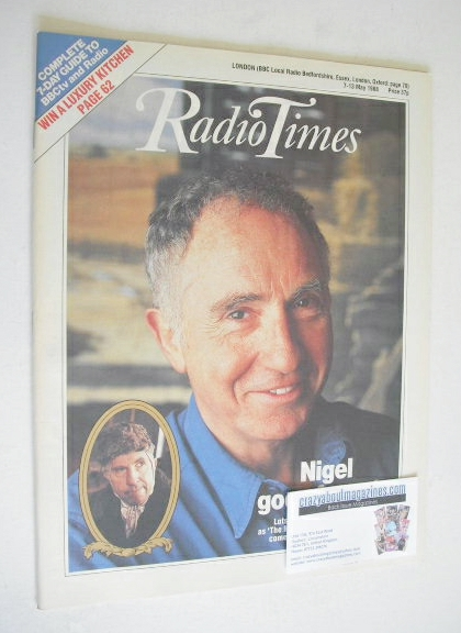 <!--1988-05-07-->Radio Times magazine - Nigel Hawthorne cover (7-13 May 198