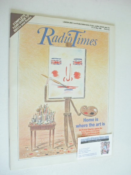 <!--1988-05-21-->Radio Times magazine - Home Is Where The Art Is cover (21-