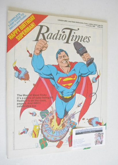 <!--1988-06-04-->Radio Times magazine - Superman cover (4-10 June 1988)