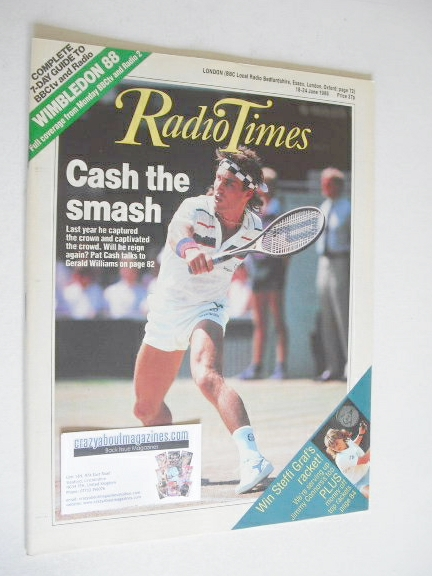 <!--1988-06-18-->Radio Times magazine - Pat Cash cover (18-24 June 1988)