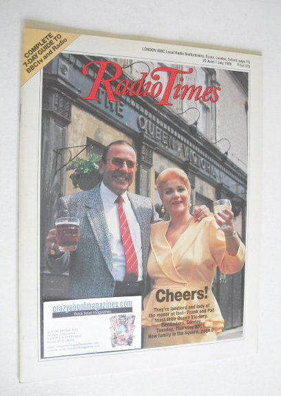 <!--1988-06-25-->Radio Times magazine - Pam St Clement and Mike Reid cover