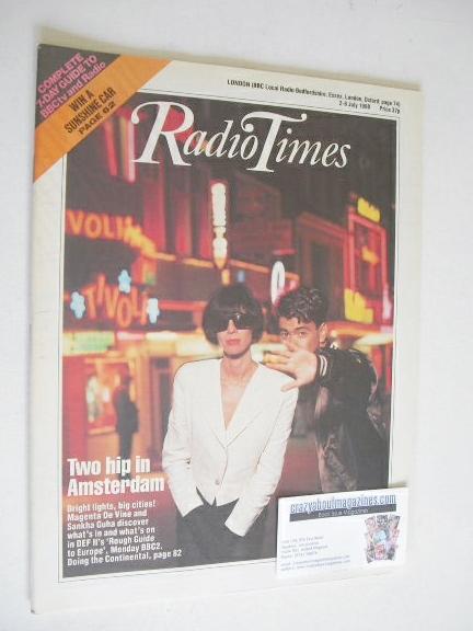 <!--1988-07-02-->Radio Times magazine - Magenta De Vine and Sankha Guha cov