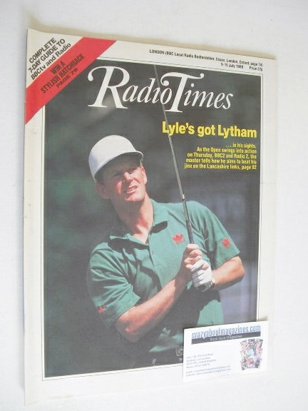 <!--1988-07-09-->Radio Times magazine - Sandy Lyle cover (9-15 July 1988)