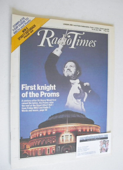 <!--1988-07-16-->Radio Times magazine - First Knight Of The Proms cover (16