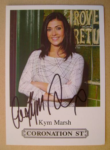 Kym Marsh autograph