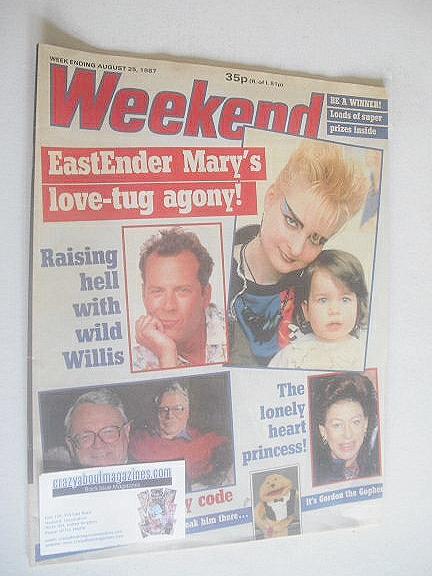 <!--1987-08-25-->Weekend magazine - Linda Davidson cover (25 August 1987)