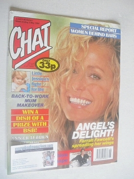 Chat magazine - Farrah Fawcett cover (5 May 1990)