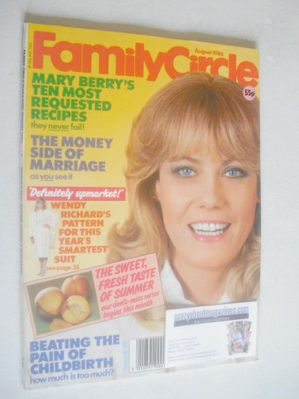 <!--1986-05-->Family Circle magazine - August 1986 - Wendy Richard cover