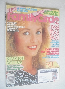 Family Circle magazine - January 1988 - Liza Goddard cover