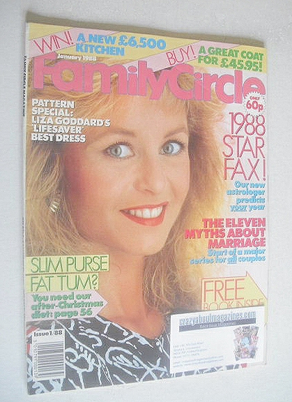 <!--1988-01-->Family Circle magazine - January 1988 - Liza Goddard cover