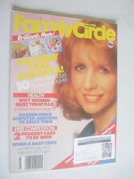Family Circle magazine - July 1986 - Jane Asher cover