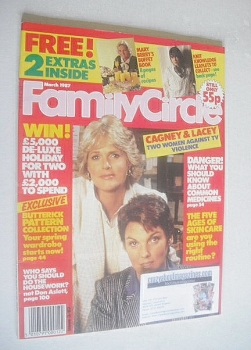 Family Circle magazine - March 1987 - Sharon Gless and Tyne Daly