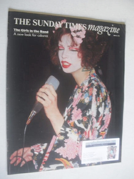 <!--1974-06-23-->The Sunday Times magazine - The Girls In The Band cover (2