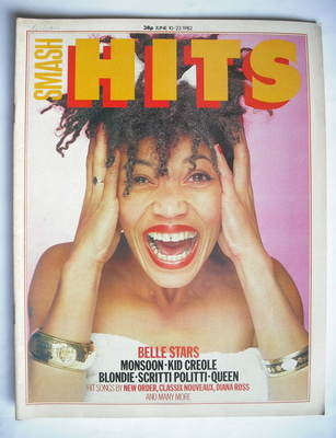 <!--1982-06-10-->Smash Hits magazine - Jennie McKeown cover (10-23 June 198