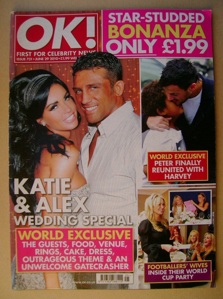 <!--2010-06-29-->OK! magazine - Jordan Katie Price and Alex Reid cover (29