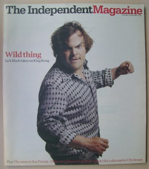 The Independent magazine - Jack Black cover (10 December 2005)