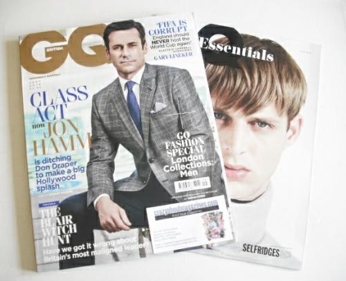 <!--2014-09-->British GQ magazine - September 2014 - Jon Hamm cover