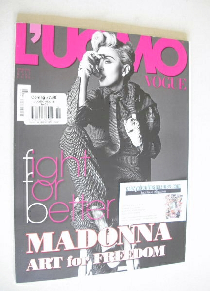 <!--2014-05-->L'Uomo Vogue magazine - May/June 2014 - Madonna cover