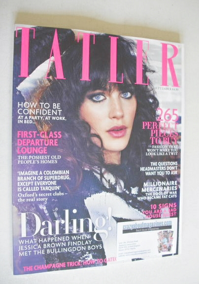<!--2014-09-->Tatler magazine - September 2014 - Jessica Brown Findlay cove