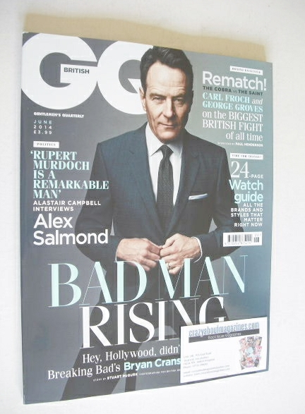 <!--2014-06-->British GQ magazine - June 2014 - Bryan Cranston cover