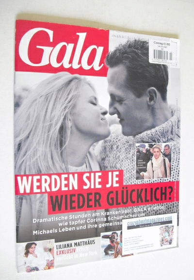 Gala magazine - Corinna and Michael Schumacher cover (8 January 2014 - Germ