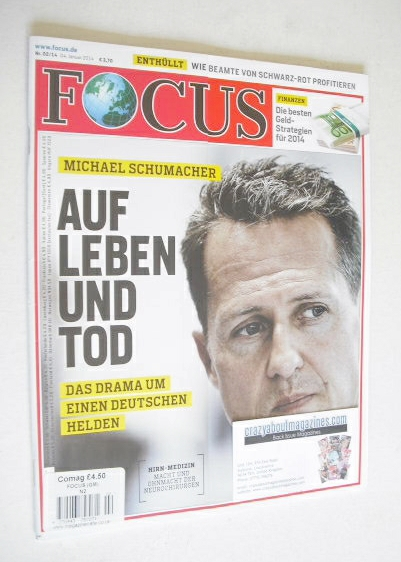 Focus magazine - Michael Schumacher cover (4 January 2014 - German Edition)