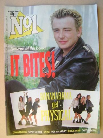 <!--1986-08-16-->No 1 Magazine - Francis Dunnery cover (16 August 1986)