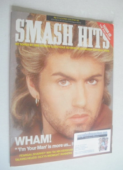 <!--1985-11-20-->Smash Hits magazine - George Michael cover (20 November -