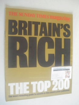 The Sunday Times magazine - Britain's Rich Top 200 (8 April 1990)
